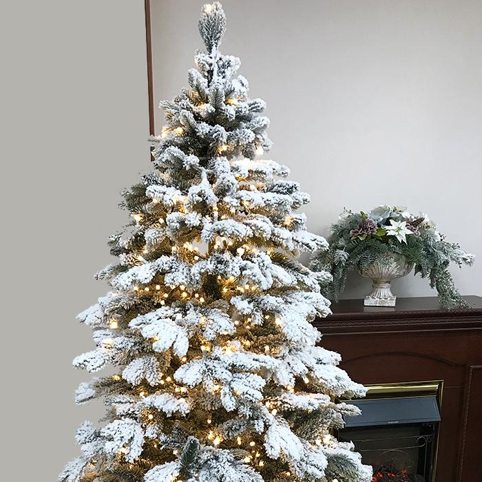 елка снег 43543